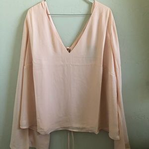 Forever 21+ peach bell sleeve blouse